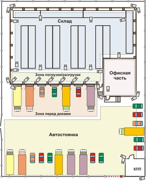 Планы схем размещение товаров в складах